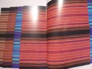 צילום של אחד הבדים בעיצובה של נאורה ורשבסקי, מתוך הספר.